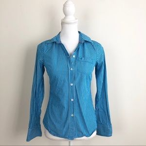 AMERICAN EAGLE Favorite Pinstripe Button Down Top